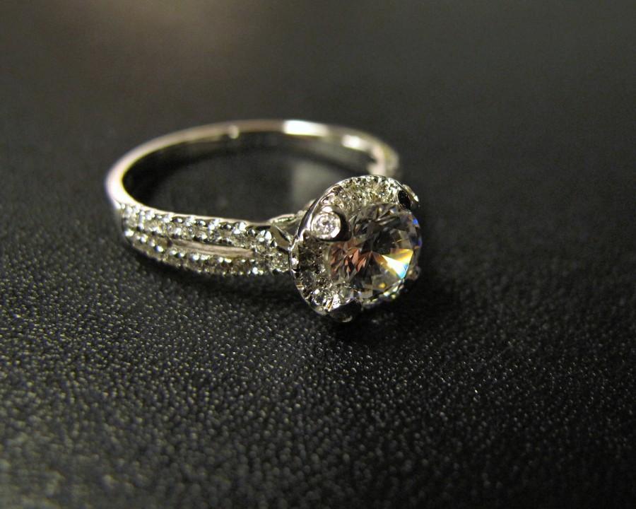 زفاف - Classic Designer Inspired Engagement Ring, Made to Order