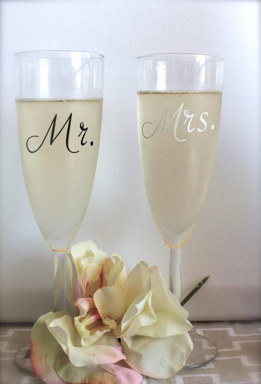 Wedding ideas glasses weddbook mr and mrsampagne glasses wedding toasting glasses comes with a mr and a mrs glass solutioingenieria Choice Image