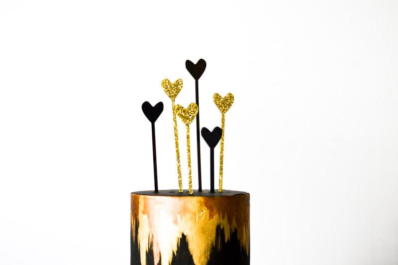 Свадьба - Valentine's Heart Picks, Drink Stirrers, and or Cake or Cupcake Topper, Laser Cut, Acrylic, 8 Ct.