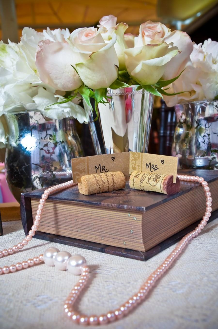 Set Of 25 Wine Cork Place Card Holders