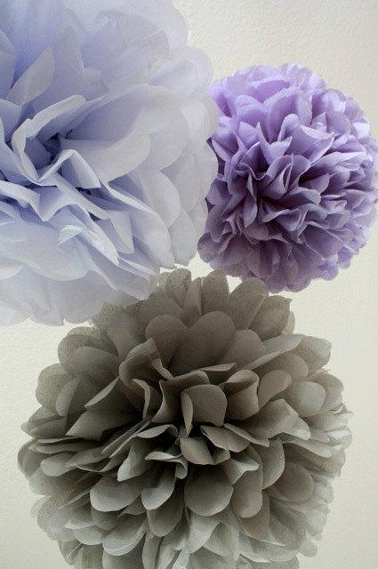10 tissue paper pom poms your color choice sale for Hanging pom poms from ceiling