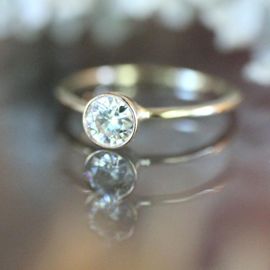 55mm Forever Brilliant Moissanite 14K Gold Engagement Ring