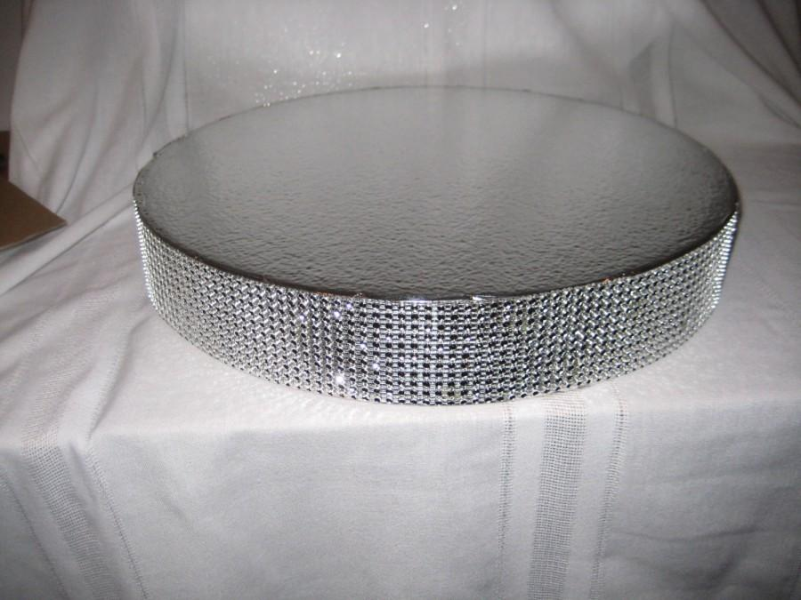 "Mariage - Bling Wedding Cake Stand 16 inch ""Dazzling Diamonds Bling"""