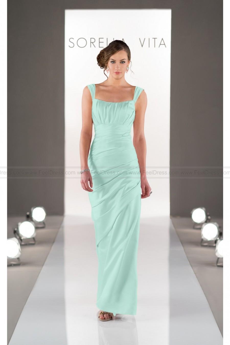 Hochzeit - Sorella Vita Bridesmaid Dress with Straps In Satin Style 8503