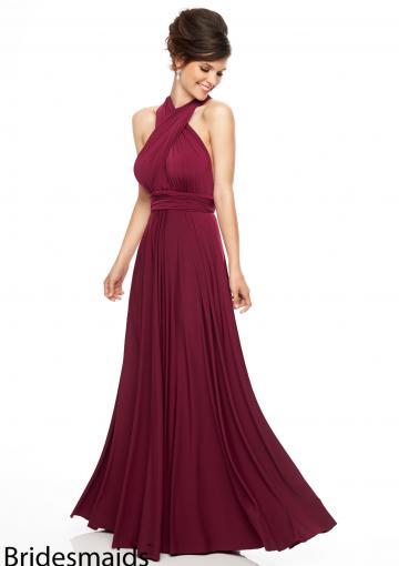 Свадьба - 2015 Straps Open Back Burgundy Floor Length Sleeveless Sash Ruched Chiffon