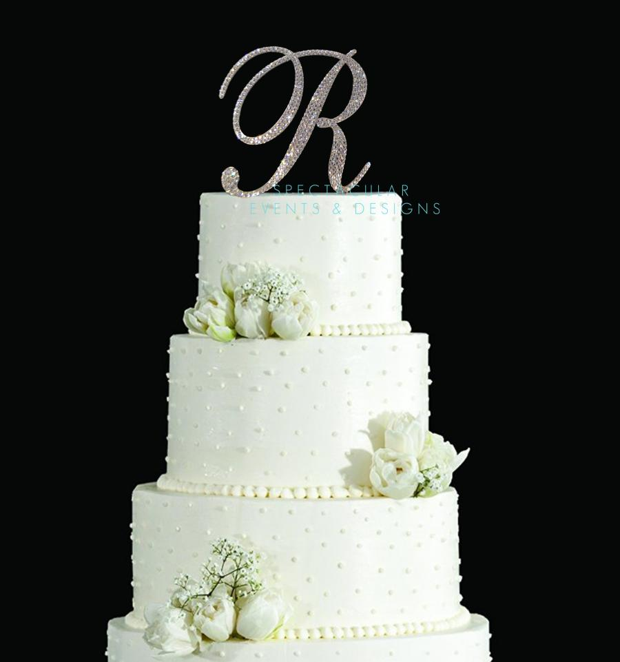 Свадьба - Swarovski Crystal Monogram Wedding Cake Topper