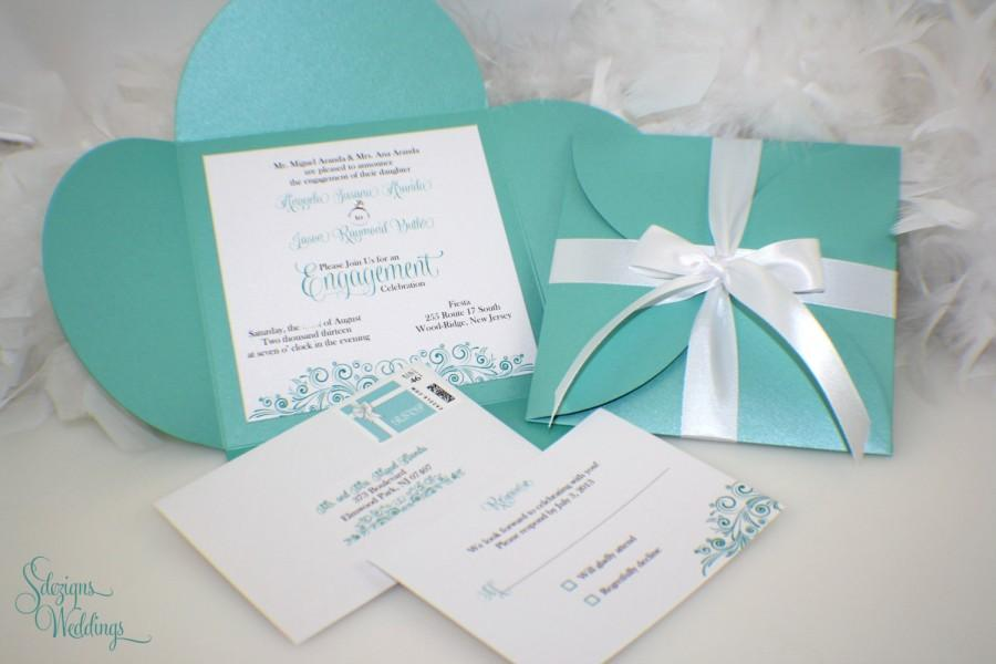 Engagement Party Invitations Aqua Blue Turquoise 2448487 Weddbook