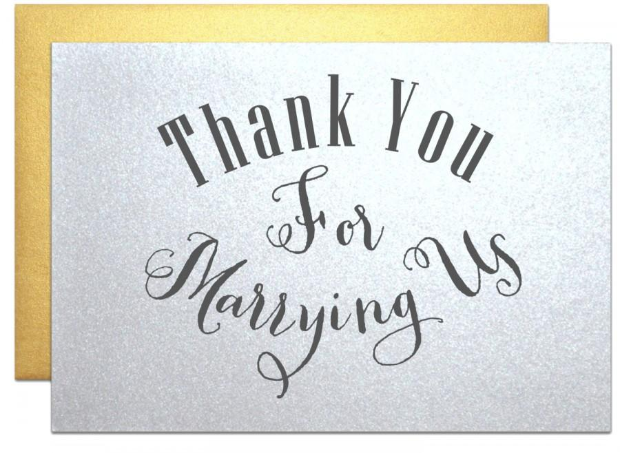 Minister Priest Rabbi, Thank You Note Wedding Cards Thank You For ...