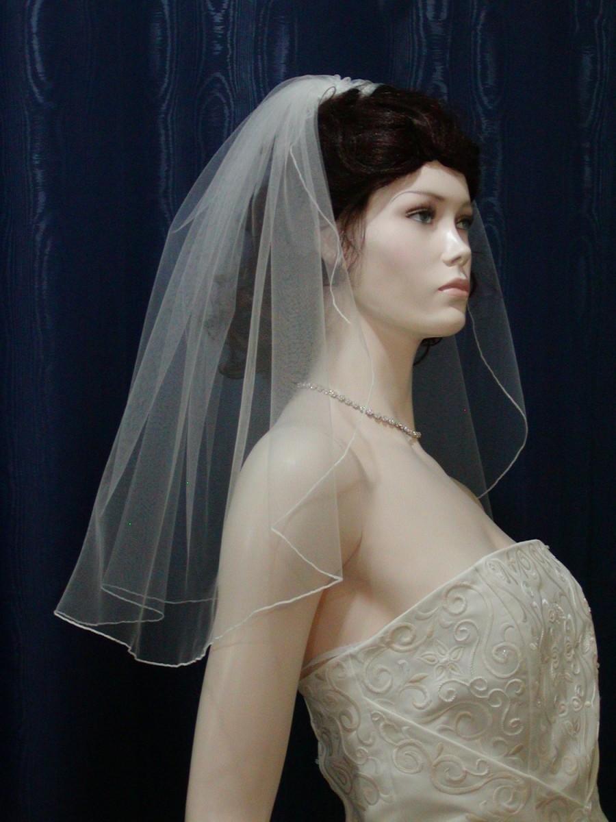 Mariage - 1 Tier Short Flyaway Wedding Veil
