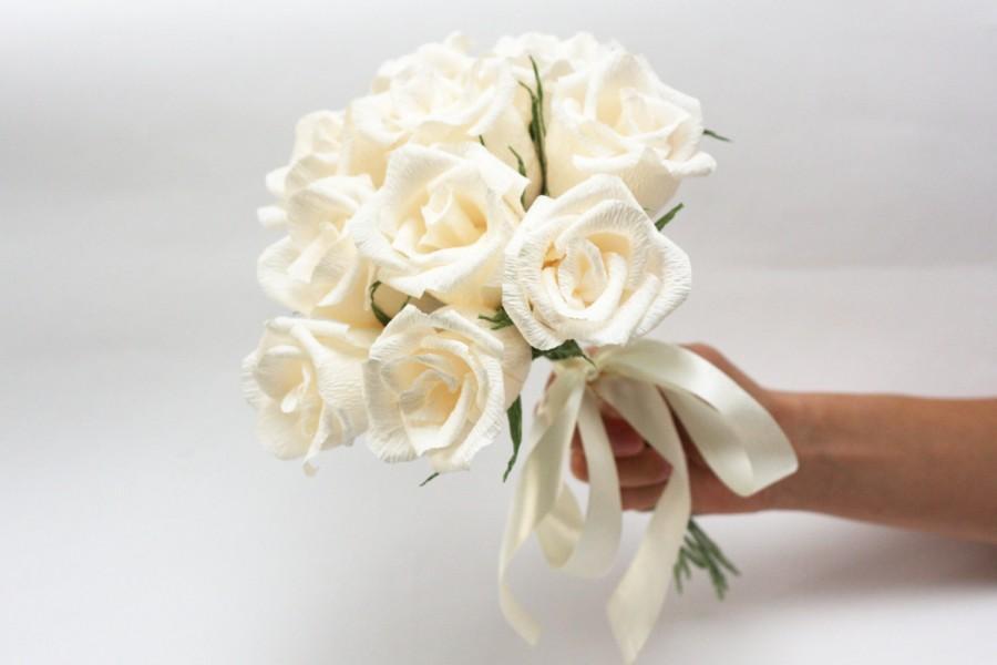 Bridesmaid Bouquet Bridesmaids Flowers Paper Flowers Wedding Flowers Flower Bouquet Paper