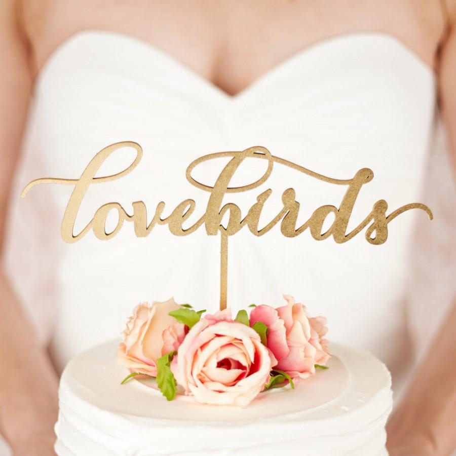 Mariage - Love birds cake topper - wedding - Soirée Collection