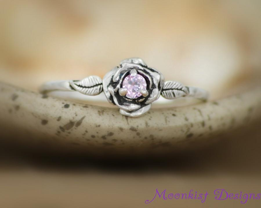 engagement gold garnet rose ring wedding leaves il unique proposal nature listing fullxfull rings custom