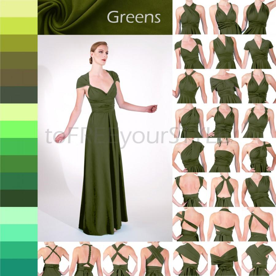 Long convertible dress in greens a line free style dress long convertible dress in greens a line free style dress infinity dress convertible wrap dress maxi bridesmaid dress formal gown bride ombrellifo Choice Image