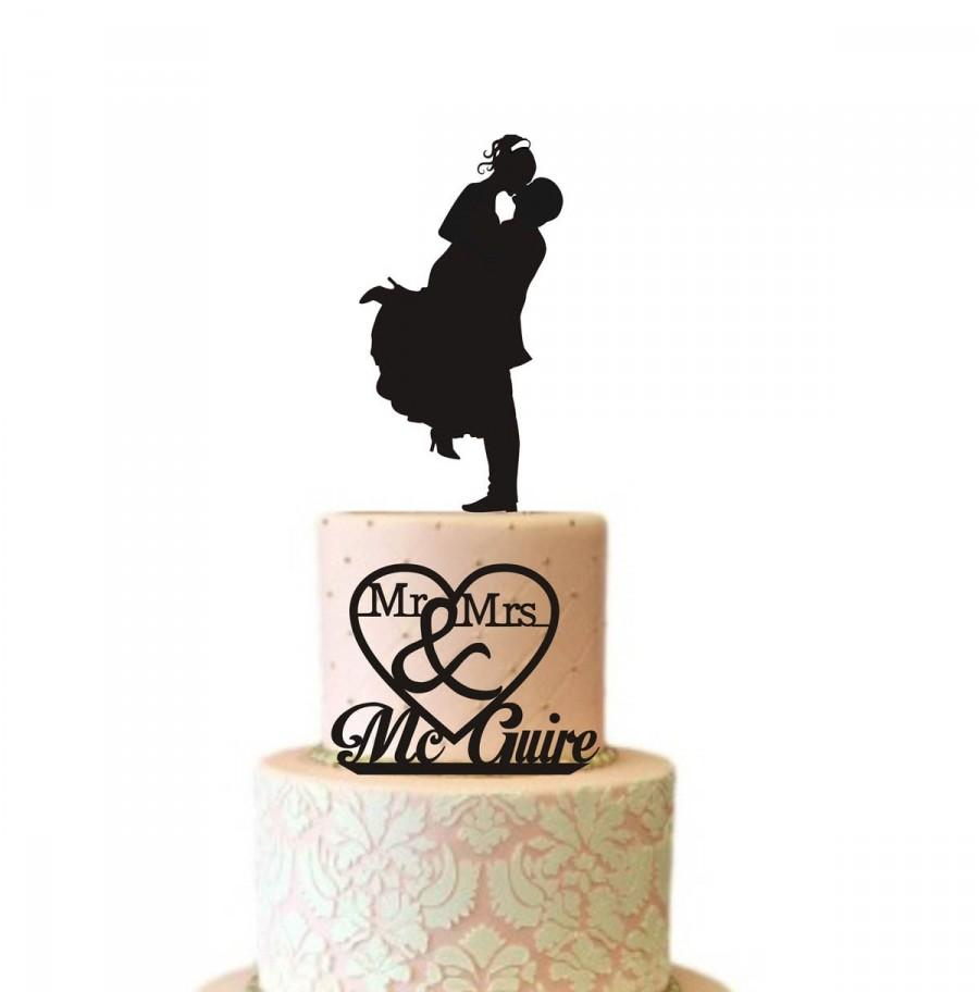 Two Tier Wedding Cake Topper Silhouette, For SMALL CAKE TOPS, Mr ...