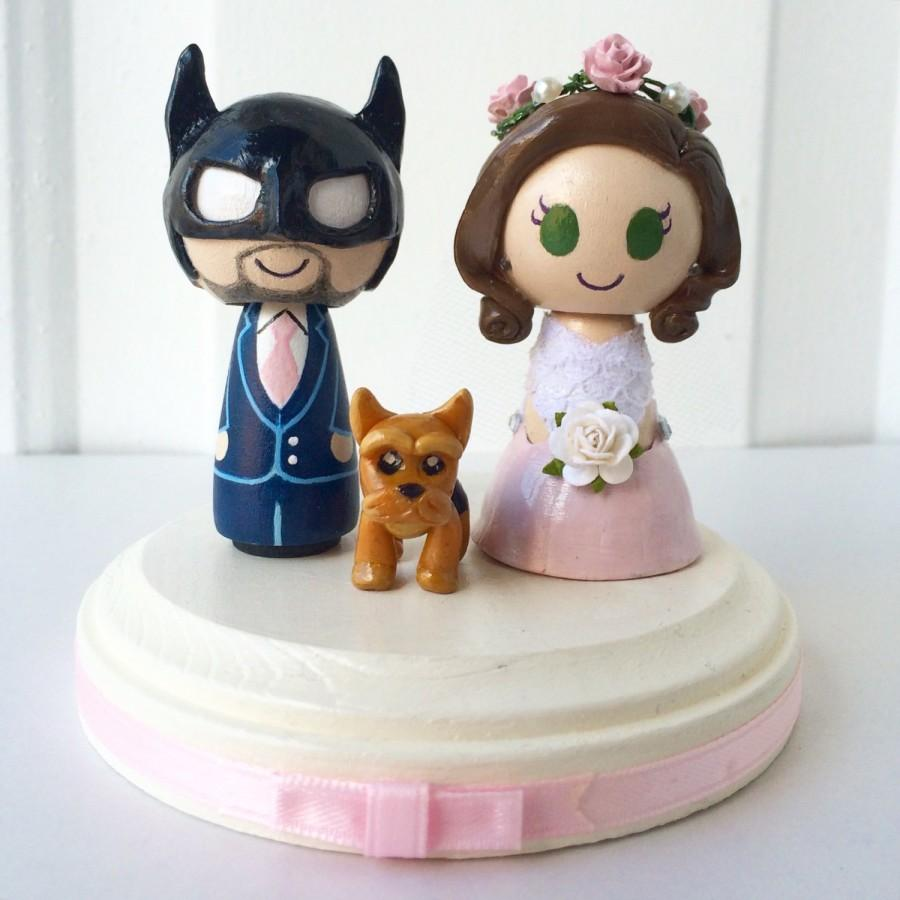Batman Themed Wedding Cake Topper W/ Customizable Bride And Groom ...