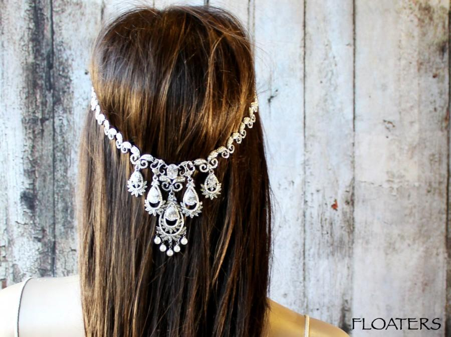 Свадьба - Wedding headpiece, wedding headband, wedding hair jewelry, wedding head chain, wedding hair accessories, wedding jewelry