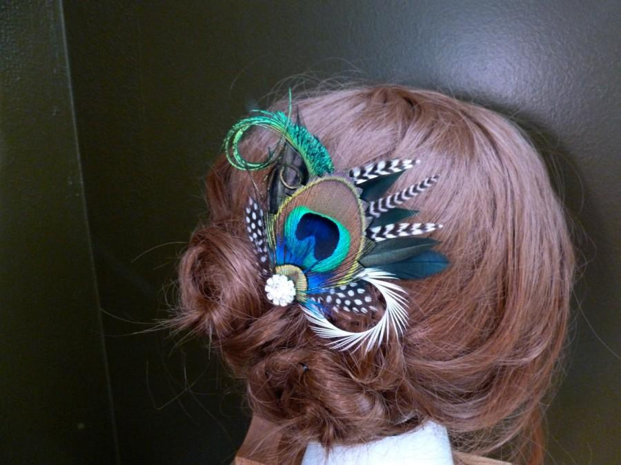 "زفاف - Bridal peacock hair accessories ""Liana"""