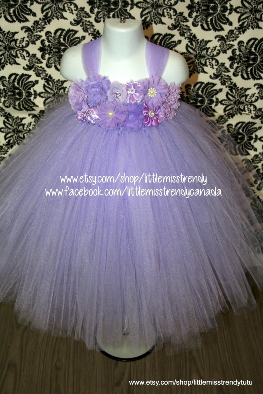 Свадьба - Lilac Flower Girl Dress, Lilac Tutu Dress, Lavender Tutu Dress,Light Purple Couture Tutu Dress, Lilac Couture Flower Girl Dress, Flower Girl