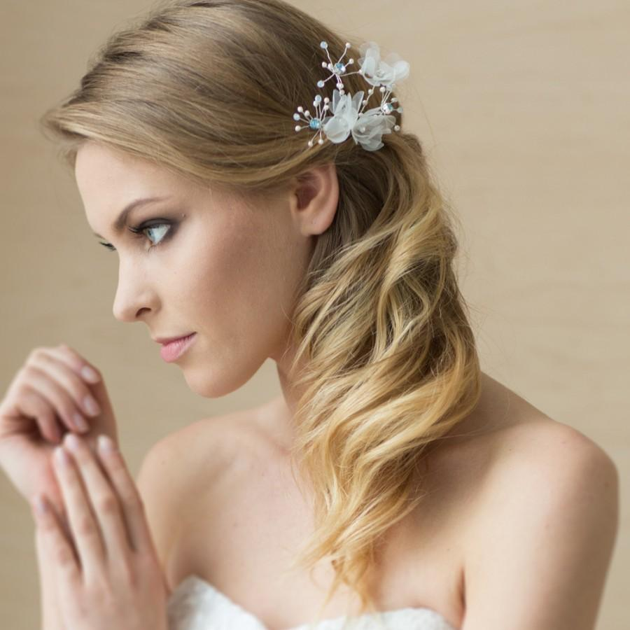 Свадьба - FLORAL 3D HAIR COMB I Wedding hair accessories
