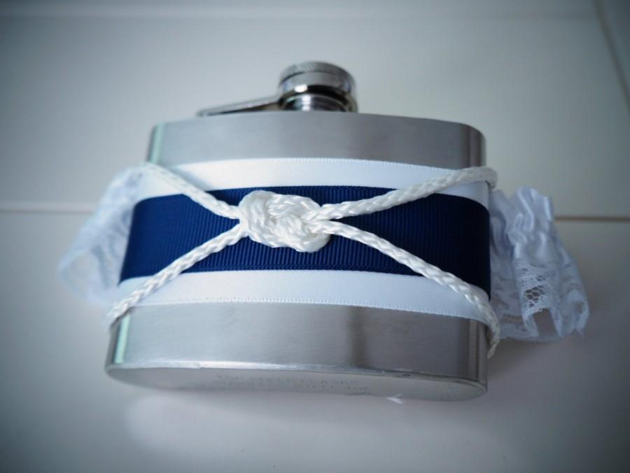 Свадьба - Nautical Sailor's Knot Cross Garter Flask