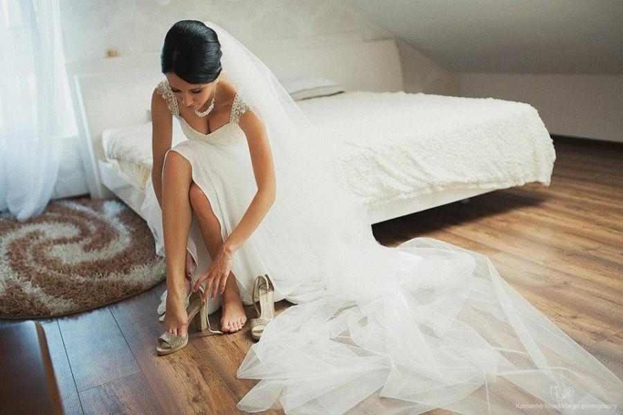 زفاف - Cathedral veil, single tier, 90 inches, wedding veil, bridal veil, One tier long wedding veil A20, Bridal Accessories, Wedding Accessories