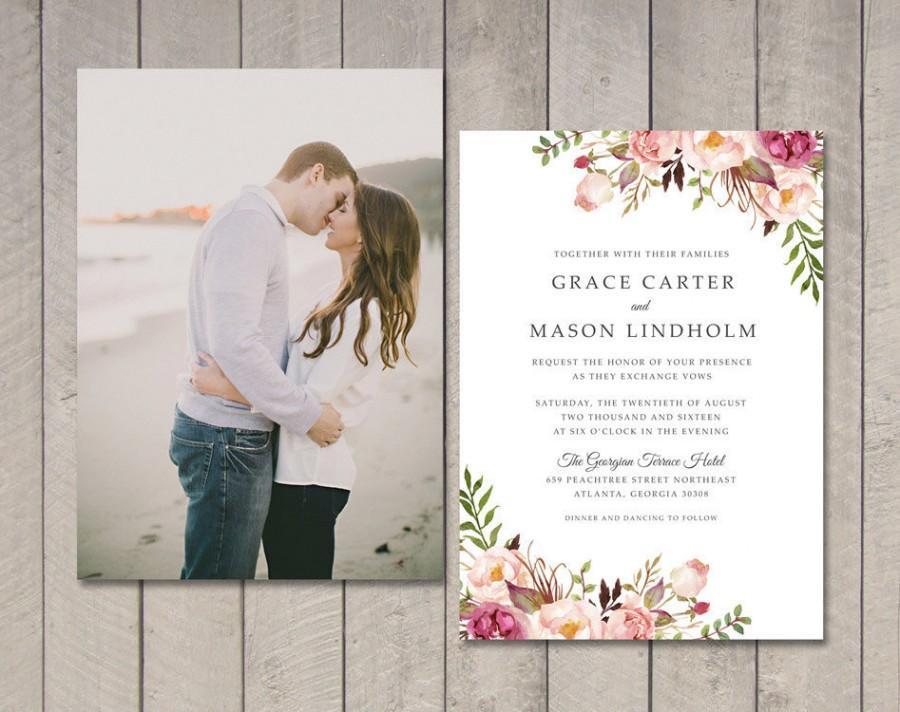 Mariage - Floral Wedding Invitation (Printable) DIY by Vintage Sweet
