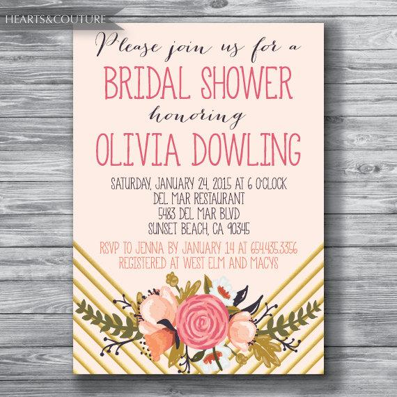 Mariage - Bridal Shower Invitation, WEDDING SHOWER INVITE, Rustic bridal shower invitation, bridal invitation, bridal shower, Wedding Shower,printable