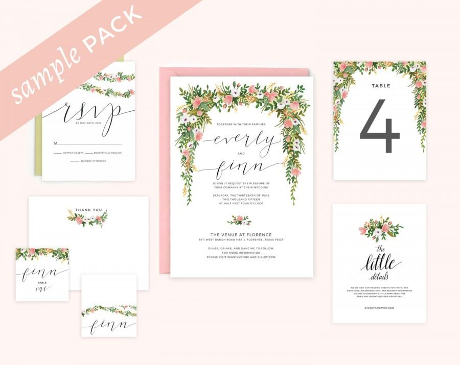 Invitation floral wedding invitation sample pack 2449290 weddbook floral wedding invitation sample pack stopboris Image collections
