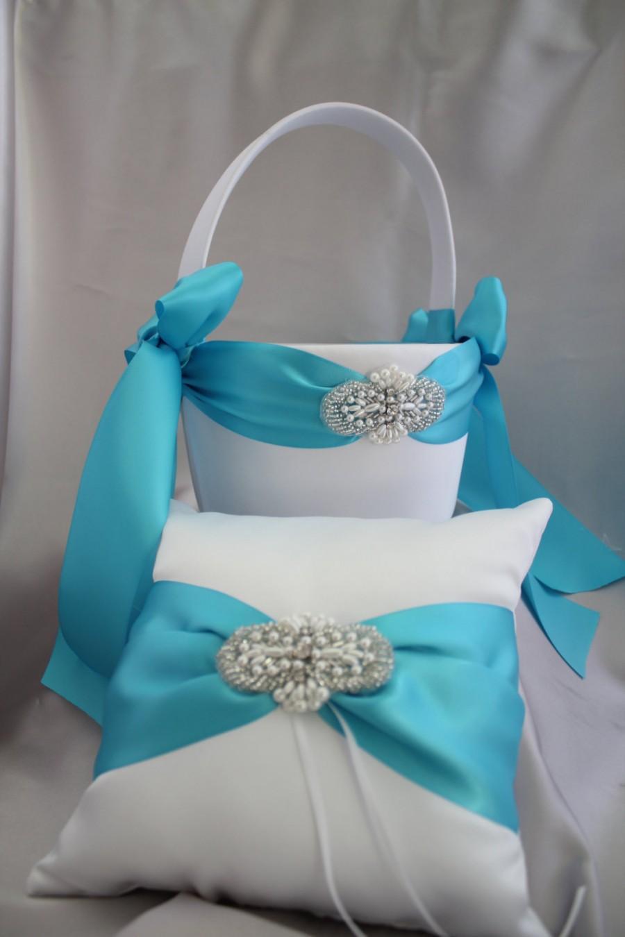Blue flower girl baskets choice image flower wallpaper hd whiteivory flower girl basket and ring bearer pillow pearl whiteivory flower girl basket and ring bearer izmirmasajfo