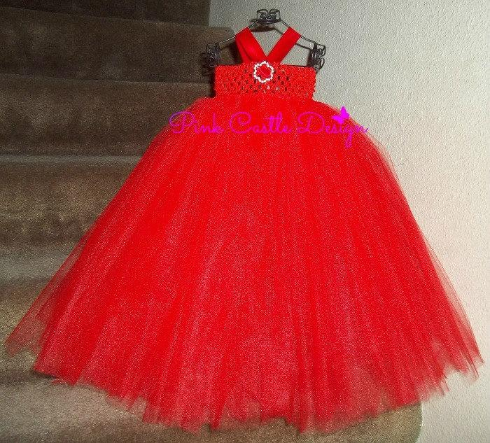 8b1688a0e511 Red Tutu Dress, Red Dress, Red Flowergirl, Flower Girl Dress, Christmas  Tutu Dress, Toddler Dress,Red Pageant Dress, 1st Birthday