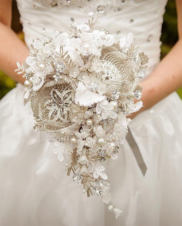 Mariage - MC custom made to order Wedding bouquet  - Bridal brooch  bouquet ULTIMATE GLAM - wedding keepsake