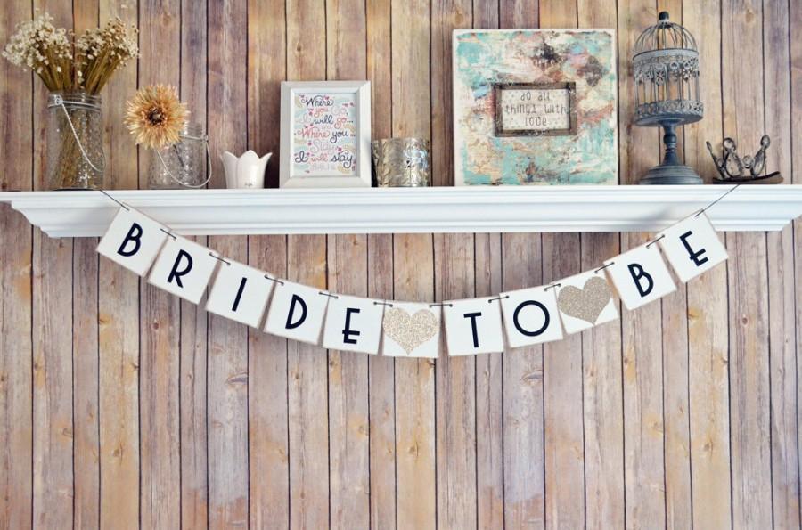 Wedding - Bride To Be banner, Gatsby Bachelorette banner, Gatsby Sign