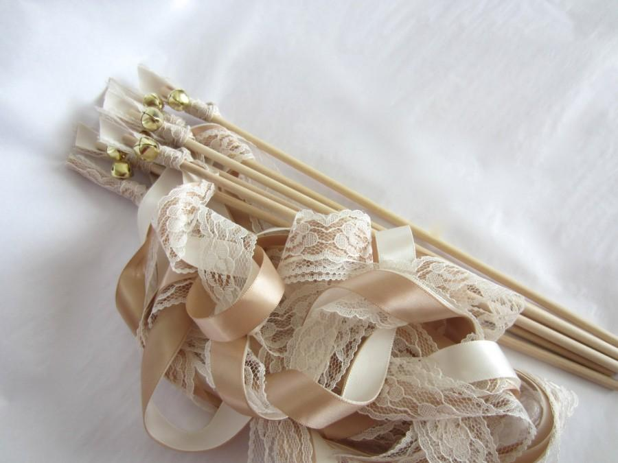 ribbon wands wedding wands 3 ribbons and bell barn rustic wedding send off custom colors 125 wands