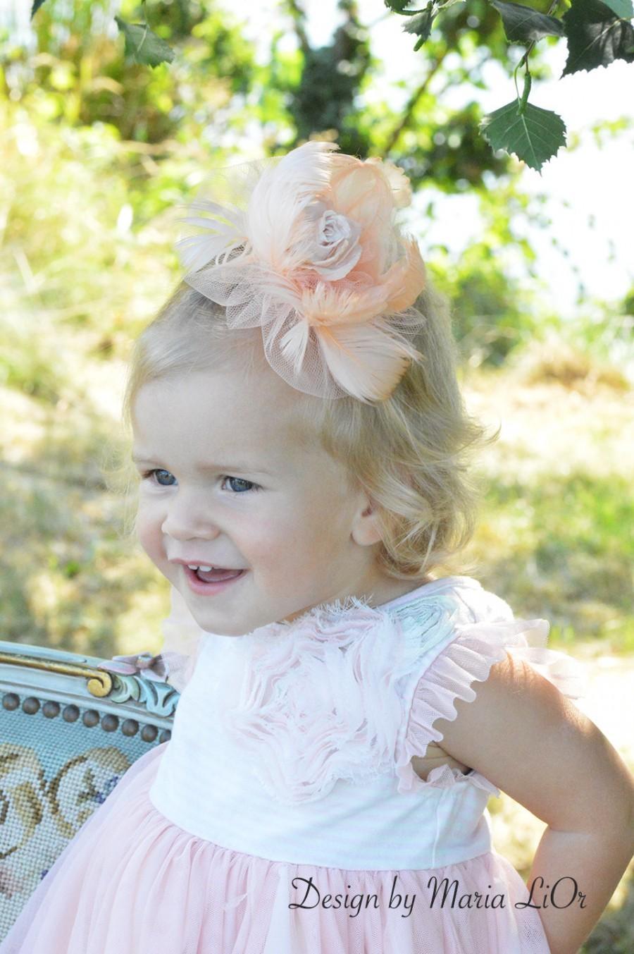 زفاف - Wedding Princess hair accessory. Handmade flower girl hair piece.  Flower girls head accessory. Flower girls gift. Flower gils headband.
