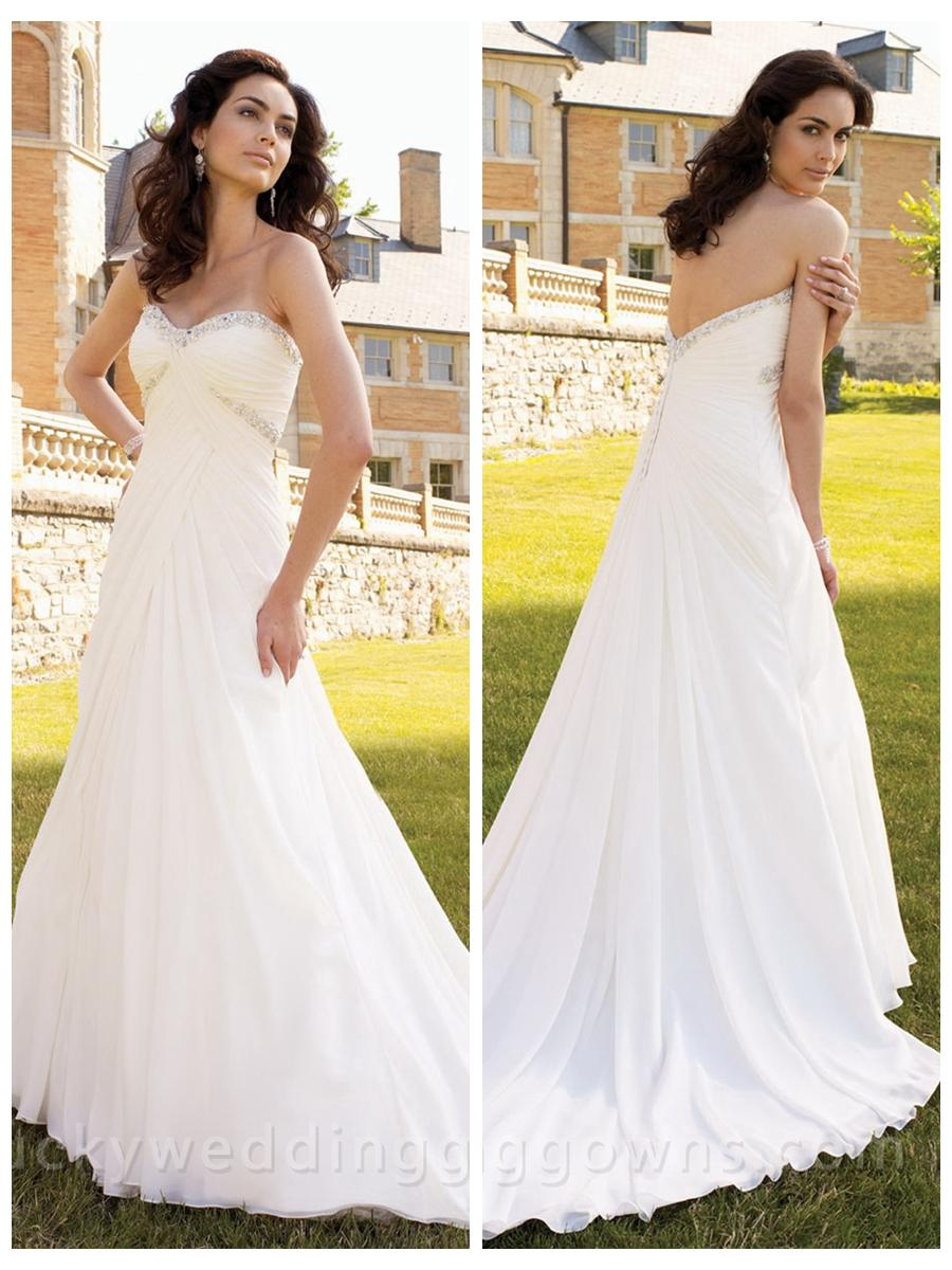 Wedding - Timeless Sweetheart A-line Bridal Wedding Gown with Low Dipped Back