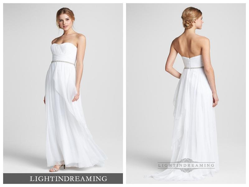 Strapless Column Wedding Dress