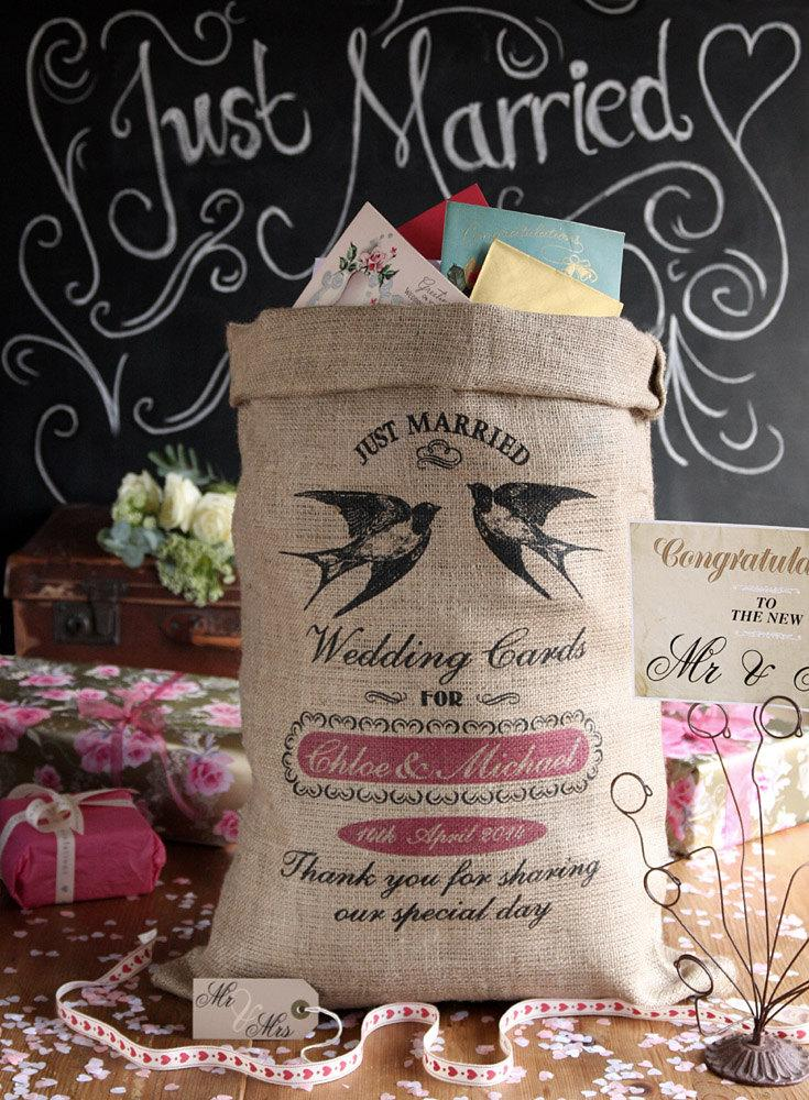 زفاف - Personalized wedding card post box, wishing well for wedding cards and presents. Custom wedding card holder.