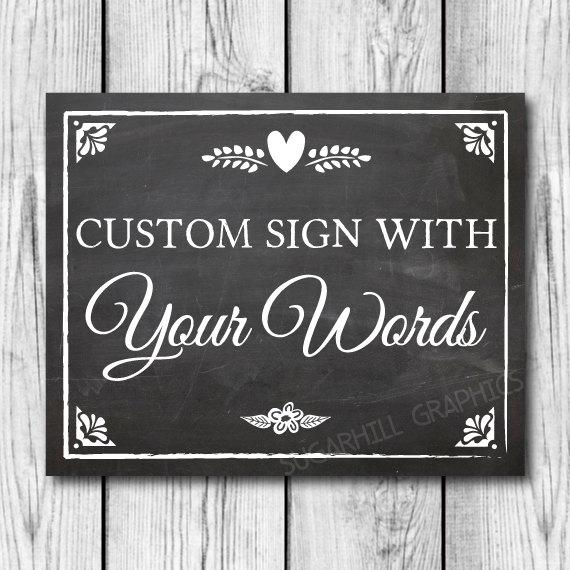 Mariage - Chalkboard Wedding Sign, Custom Wedding Sign, Custom Chalkboard Wedding Sign, Printable Wedding Sign, Wedding Decor