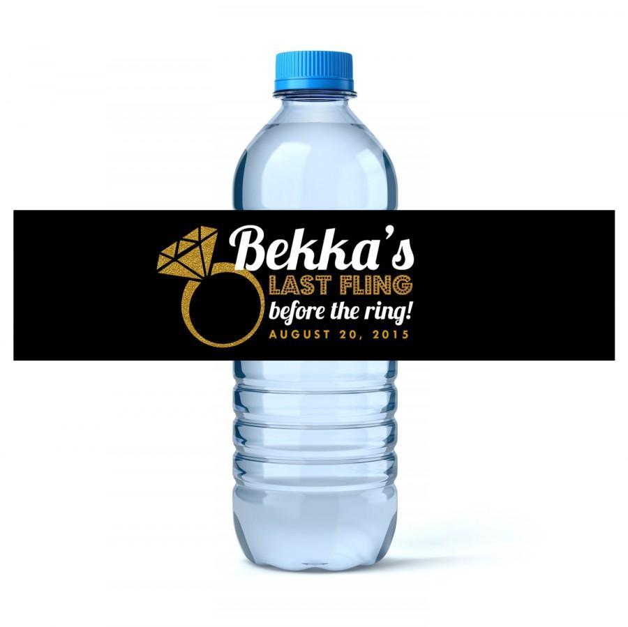 Hochzeit - Bachelorette Water Bottle Label - Wedding Water Label - Bachelorette Party - (24 qty)