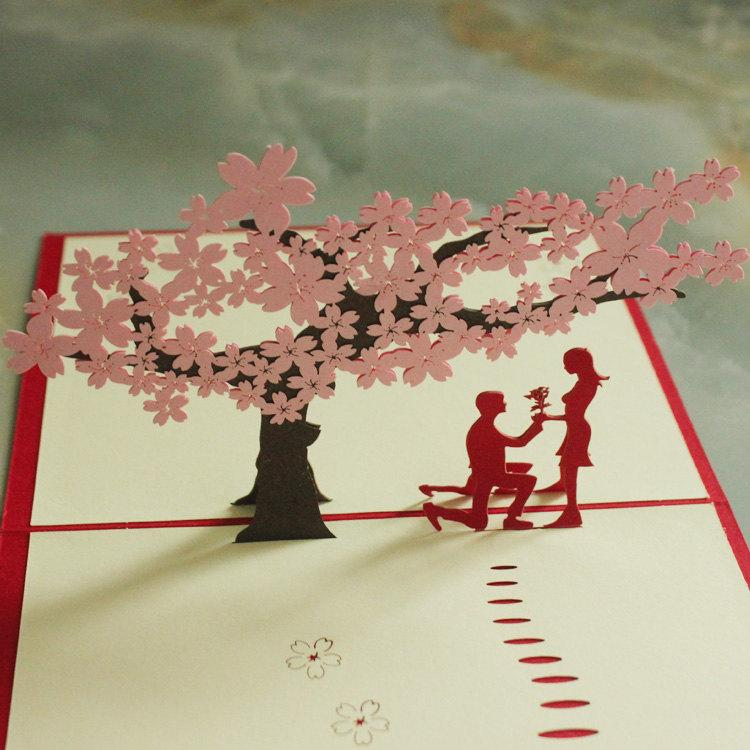 زفاف - Pop up wedding card, Love you, Valentines day, girls, gift, Romantics, DIY card, chinese art, invitation letter