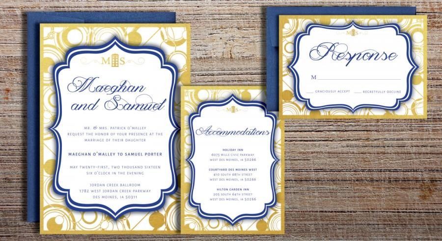 Doctor Who Inspired Gallifreyan Wedding Invitation Suite ...