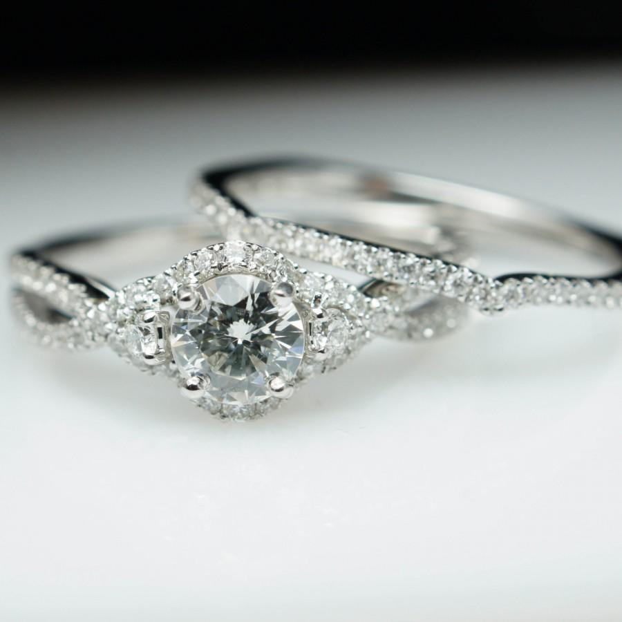 halo engagement ring wedding band complete bridal
