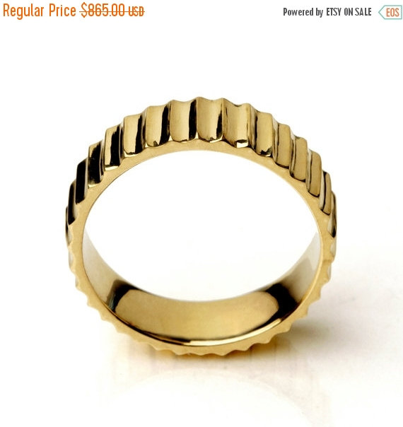 clearance sale 35 off sunshine ring 14k yellow gold wedding ring unique gold wedding band alternative wedding band for women mens we - Clearance Wedding Rings