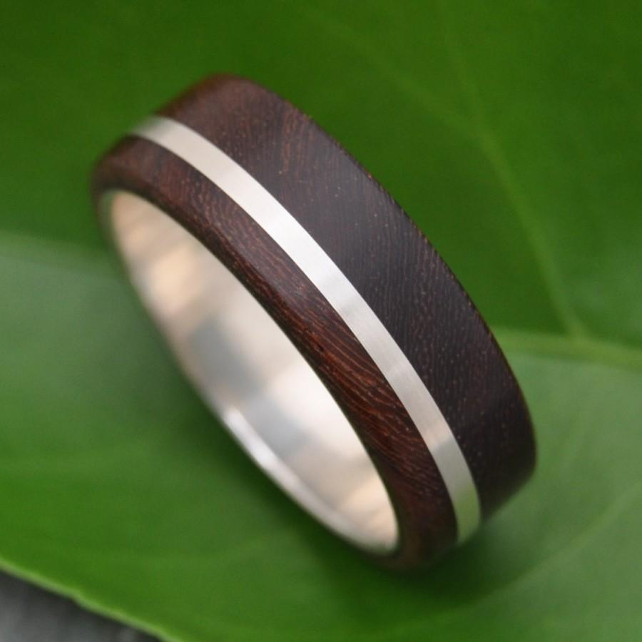 Wood Ring   Solsticio Nacascolo   Ecofriendly Wood Wedding Band, Mens  Wedding Band, Wood Wedding Ring