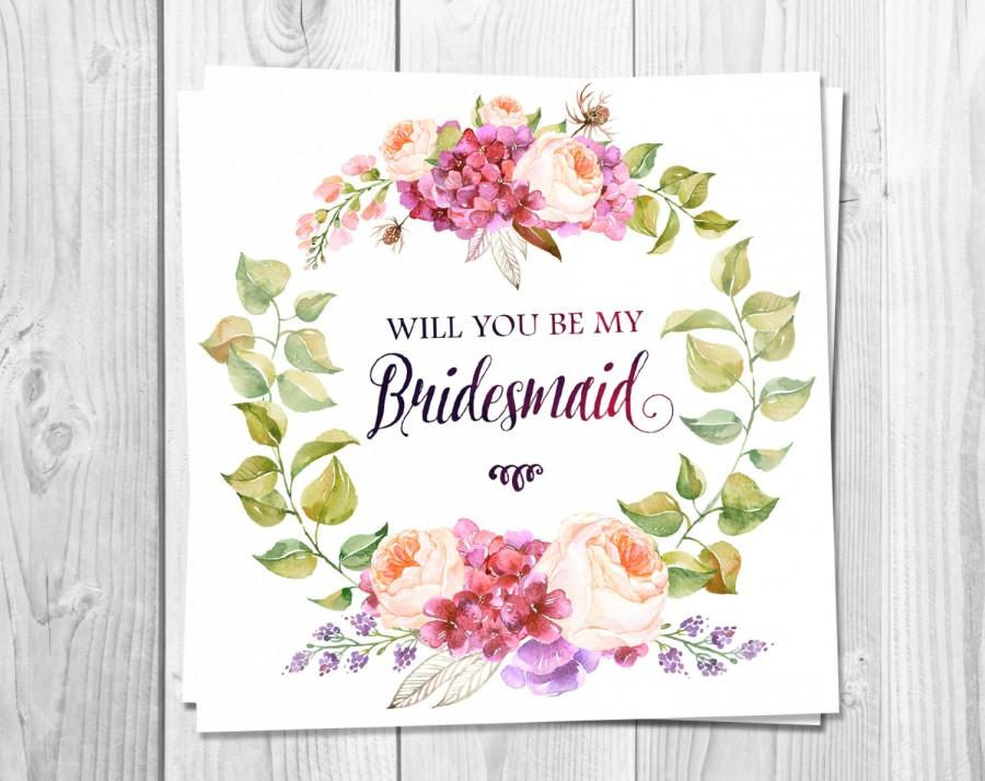 graphic relating to Printable Will You Be My Bridesmaid called Bridesmaid Card Printable, Will Yourself Be My Bridesmaid