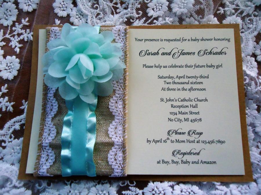 Baby Shower Invitations Premium Customized Invites Shabby Chic