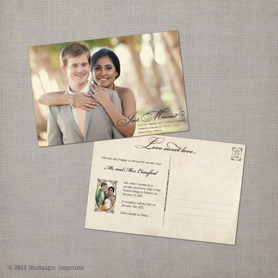 Wedding Announcement, Vintage Wedding Announcement Cards - The ...