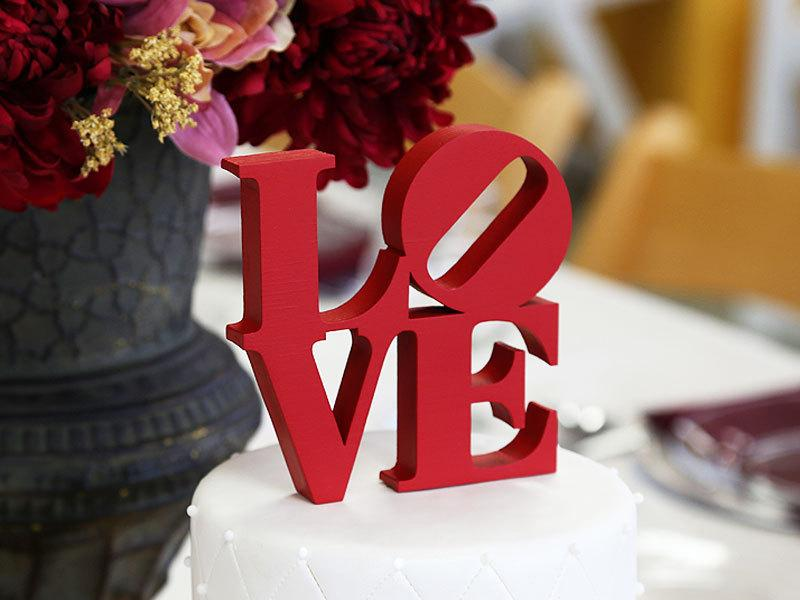 Mariage - LOVE Cake Topper - Color of Your Choice including Silver or Gold