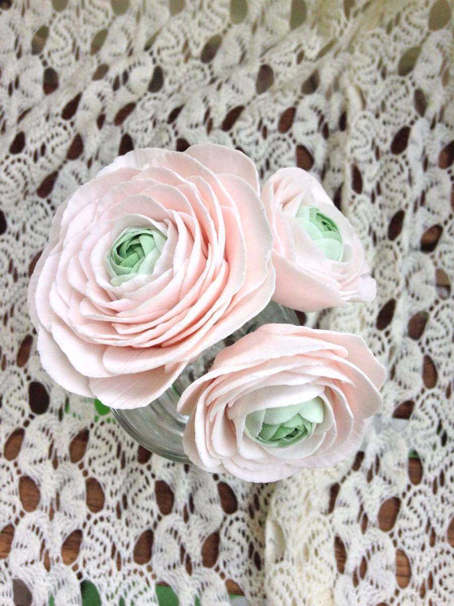 Mariage - 3 Ranunculus sugar flowers