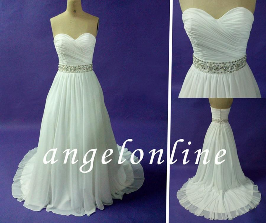 Simple wedding dress boho wedding dress beach wedding for White hippie wedding dress